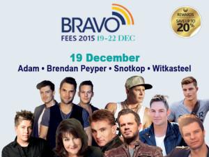 Adam en Ander Kunstenaars is op 19 Desember by die Bravo Fees