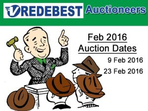 February 2016 Twice Monthly Auction Dates in Mossel Bay