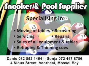 Snooker and Pool Accessories in Mossel Bay Eden