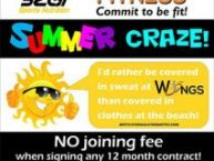 No Joining Fee Payable for Contracts at Wings Fitness Studio Mossel Bay