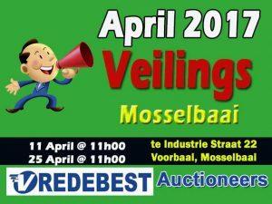 April 2017 Veiling Datums in Mosselbaai