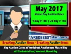 May 2017 Mossel Bay Auction Dates