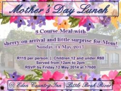 Mother's Day Lunch in Little Brak River