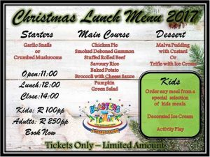 Christmas Lunch in Mossel Bay
