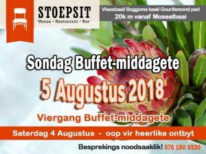 Sondag Buffetmiddagete Vleesbaai Mosselbaai