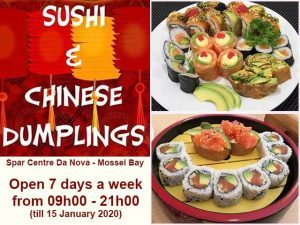 Sushi and Chinese Food in Mossel Bay